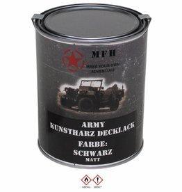 MFH Blik met verf 'Army' zwart matt 1 Liter