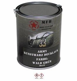 MFH Blik met verf 'Army' WALD groen matt 1 Liter