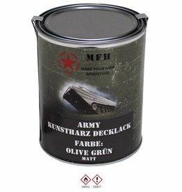 MFH Blik met verf 'Army' olijf/legergroen groen matt 1 Liter