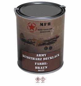 MFH Blik met verf 'Army' BRAUN matt 1 Liter