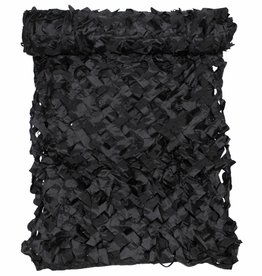 MFH Camouflagenet 3 x 2 m 'Basic' zwart met PVC-draagtas