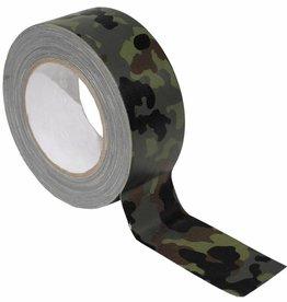 MFH Army Pantser-Plakband Textiel 5 cm x 25 m vlekken camouflage