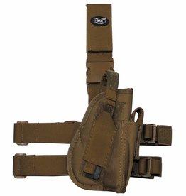 MFH Pistolenbeinholster, coyote tan, rechts