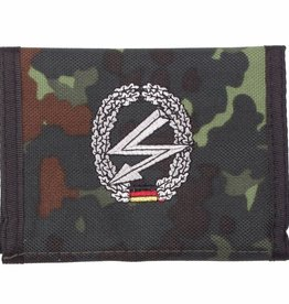 MFH Army Portemonnee vlekcamouflage Fernmelder Klettv. Ausweisf.