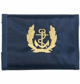 MFH BW Geldbörse, blau, Marine, Klettverschl., Ausweisfenster