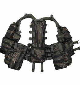 MFH Tactical Weste, mit vielen Taschen, tiger stripe