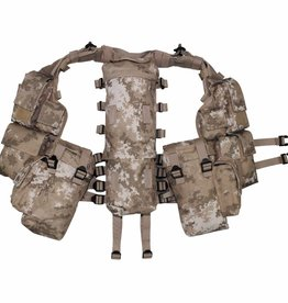 MFH Tactical Weste, mit vielen Taschen, vegetato desert