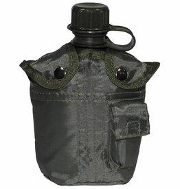 MFH US Plastikfeldflasche, mit Hülle, oliv, 1 Liter