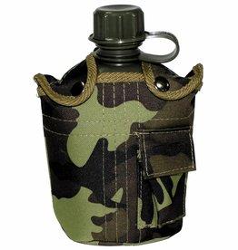 MFH US Plastikfeldflasche, mit Hülle, M 95 CZ tarn, 1 l