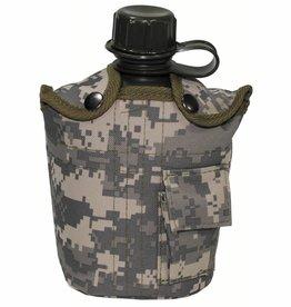 MFH US Army kunststof veldfles met Hülle AT-digital 1 l