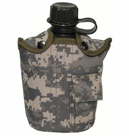 MFH US Plastikfeldflasche, mit Hülle, AT-digital, 1 l
