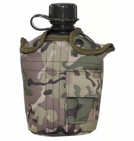 MFH US Plastikfeldflasche, 1 l, mit Hülle, operation-camo