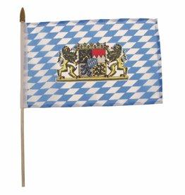 MFH Vaandeltje Beieren met Wapen Plasticstaander Afmetingen 10x15 cm (set van 12)