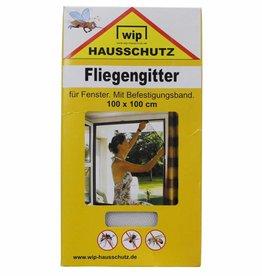 MFH Vliegenhor 'Wip' wit Befestigungsband 100x100 cm