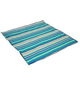 Bo-Leisure Bo-Leisure - Picknickdeken - 1,5x1,4 Meter - Blauw gestreept