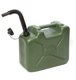 CampingMeister Benzine jerrycan - Army - 10 Liter - Groen