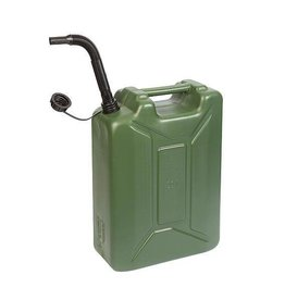 CampingMeister Benzine jerrycan - Army - 20 Liter - Groen