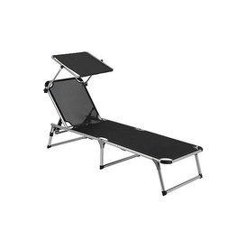 Camp Gear CA Liege mit Sonnenschirm schwarz