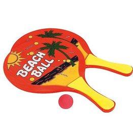 CampingMeister Beachball set - 2 rackets met een bal - Hout