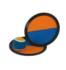 CampingMeister Catch Ball set - Scratch super grip - Oranje / Blauw
