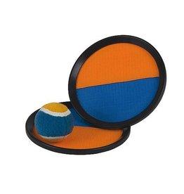 CampingMeister Catch Ball set - Scratch super grip - Oranje / Blauw