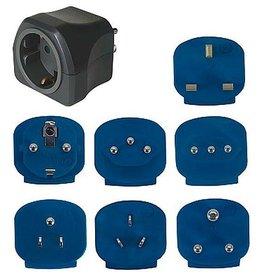 Brennenstuhl Brennenstuhl - Reis stekkers - Luxe - 7 Adaptors