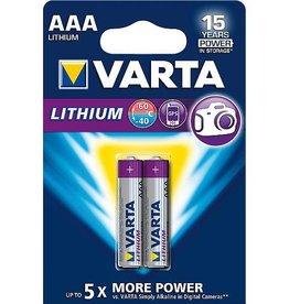 Varta Varta - Batterijen - AAA Micro - Lithium Professioneel - 2 Stuks