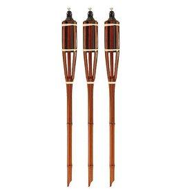 CampingMeister Tuinfakkels - Bayonet - 3 Stuks - Bamboe