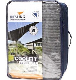 Nesling Coolfit Schaduwdoek Driehoek 90° 5,0x5,0x7,1 m Gebroken wit - Nesling