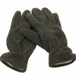 MFH Fleece vingerhandschoenen oliv gevoerd
