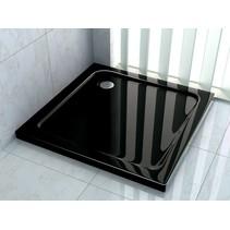 Douchebak 100 x 100 x 5 cm Zwart