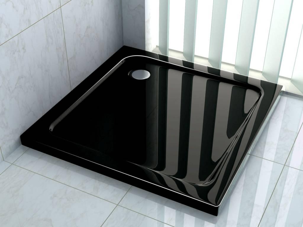 Douchebak 100 x 100 cm 5 cm hoog Zwart