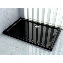 Douchebak 100 x 80 x 5 cm Zwart