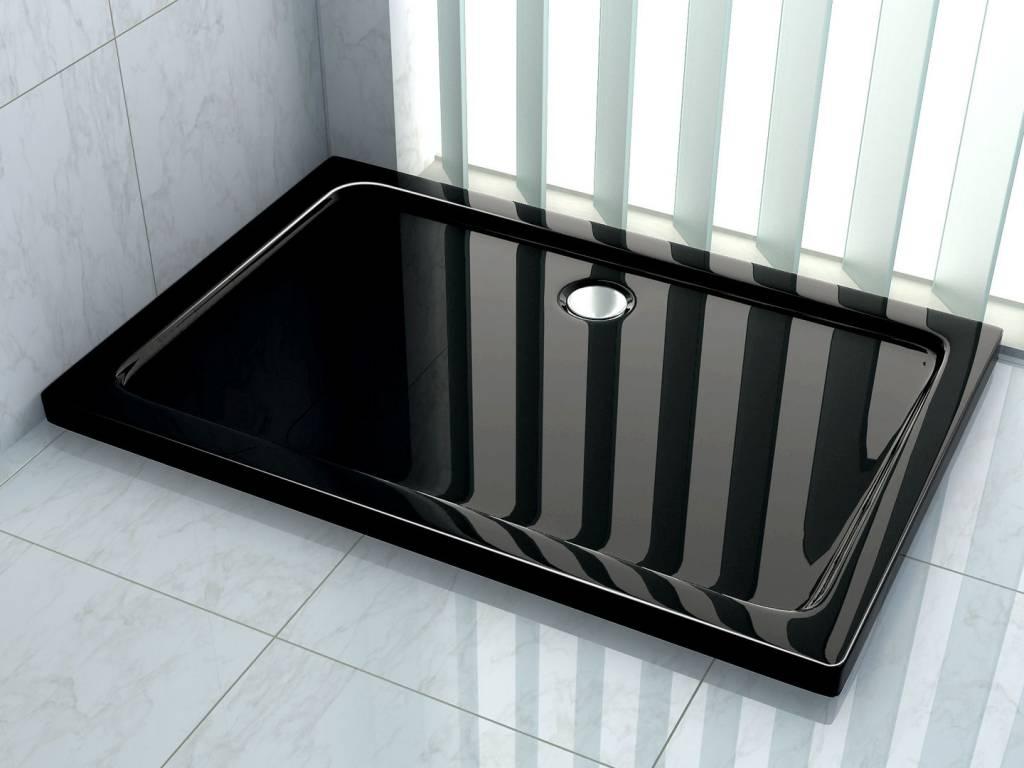Douchebak 100 x 80 x 5 cm 5 cm hoog Zwart
