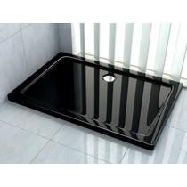 Douchebak 100 x 90 x 5 cm Zwart
