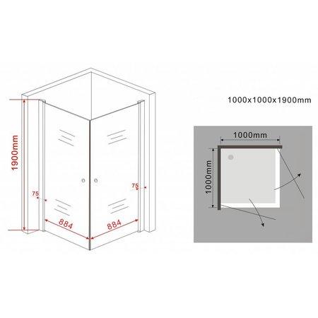 Douchecabine STALIS 100x100x190 cm