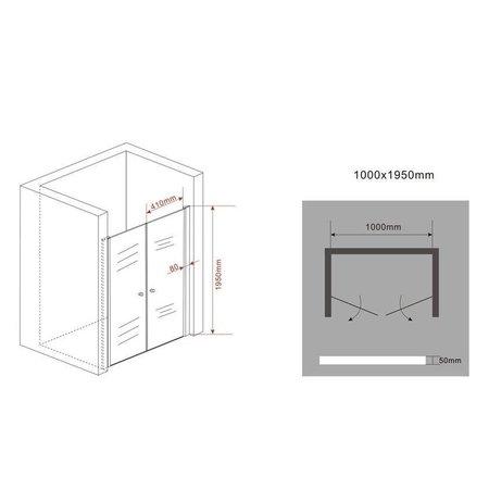 Douchedeur - pendeldeur SWING 100x195 cm