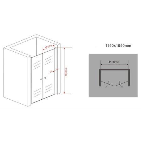 Douchedeur - pendeldeur SWING 115x195 cm