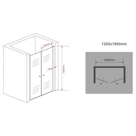 Douchedeur - pendeldeur SWING 125x195 cm