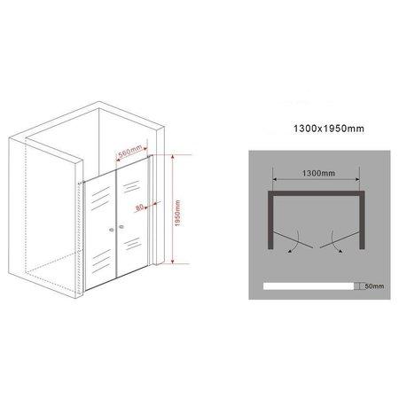 Douchedeur - pendeldeur SWING 130x195 cm