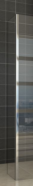 Zijwand met hoekprofiel 40 x 200 x 1 NANO glas