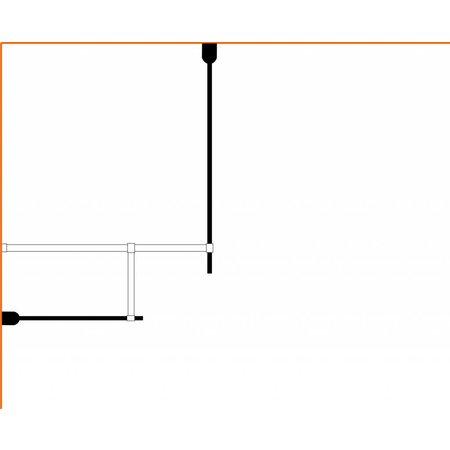 Inloopdouche AQUA-TWIN 130 x 80 x 200