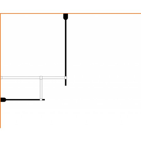 Inloopdouche AQUA-TWIN 130 x 90 x 200