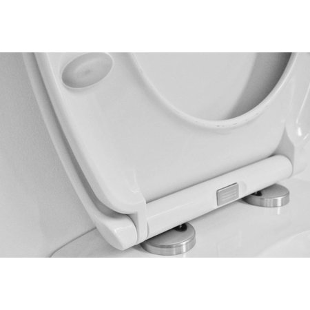 Ultimo 2.0 Soft-Close One Touch toiletzitting met deksel wit