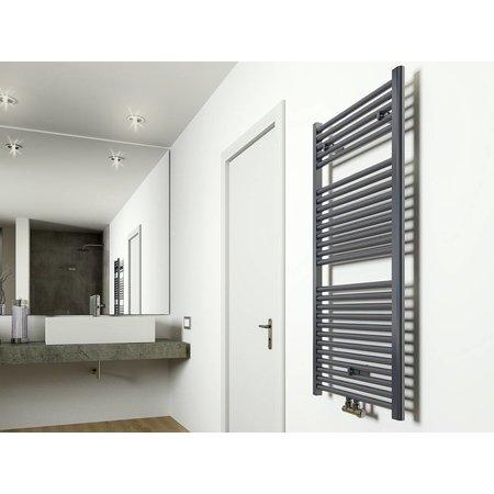 Elara design radiator antraciet 1185 x 600 midden/onder aansluiting