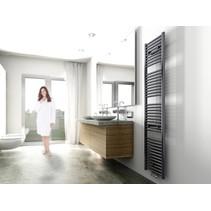 Elara design radiator antraciet 1817 x 450 midden/onder aansluiting