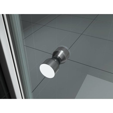 Nisdeur BASE met profiel 70x200 cm. 8 mm NANO glas