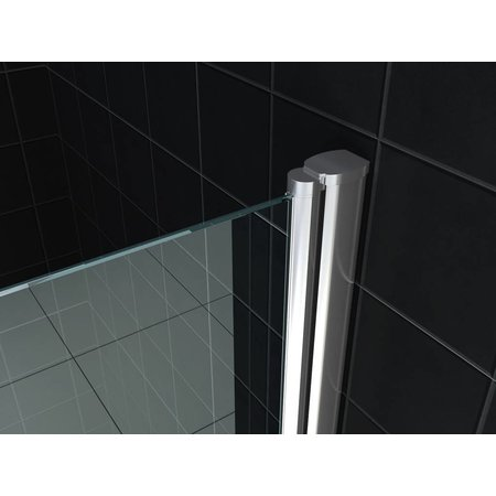 Nisdeur BASE met profiel 60x200 cm. 8 mm NANO glas