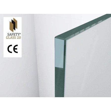 Safety Glass 2.0 10 mm NANO 90x200 cm inloop douche