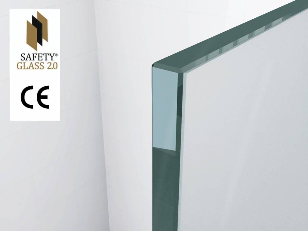 Safety glass mm nano cm inloop douche sanidream